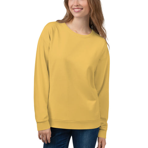 Unisex Sweatshirt Mimosa Yellow.