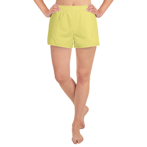 Women's Athletic Short Shorts Lemon Yellow.