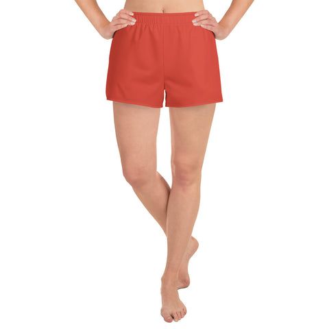 Women's Athletic Short Shorts Fiesta Red.