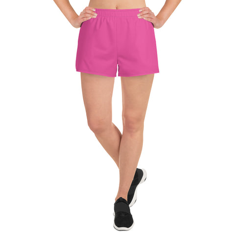 Women's Athletic Short Shorts Bright Pink.