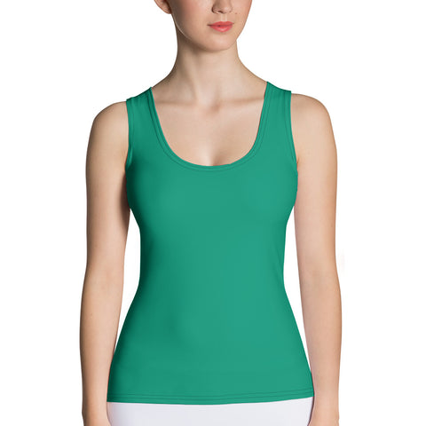Sublimation Cut & Sew Tank Top Emerald Green.