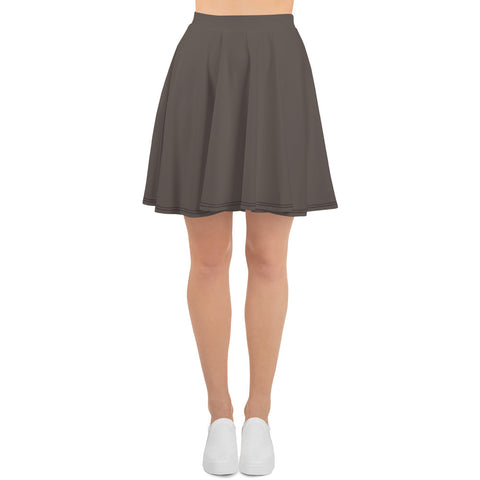 Skater Skirt Granite Brown.