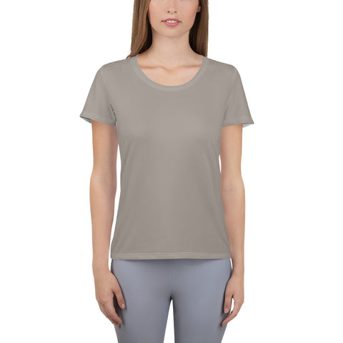 All-Over Print Women's Athletic T-shirt Medium Gray.