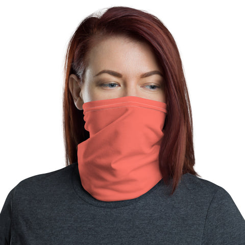Neck Gaiter Living Coral.