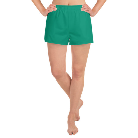 Women's Athletic Short Shorts Emerald Green.