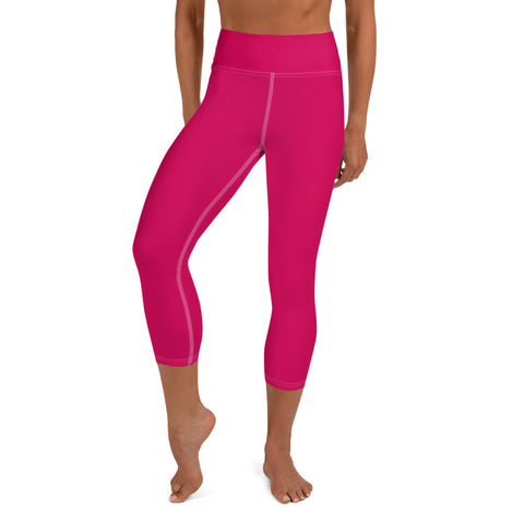 Yoga Capri Leggings Strong Red.