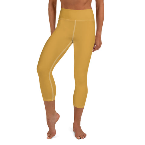 Yoga Capri Leggings Mango Yellow.
