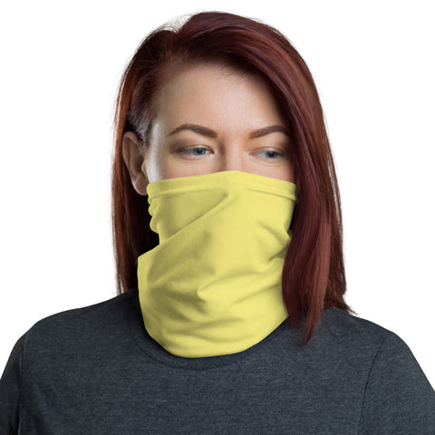 Neck Gaiter Lemon Yellow.