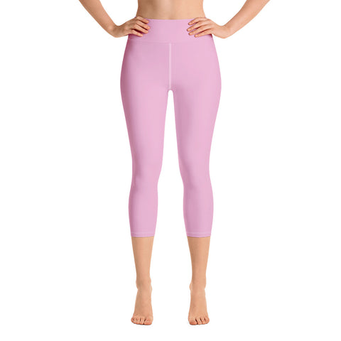 Yoga Capri Leggings Light Magenta.