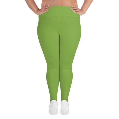 All-Over Print Plus Size Leggings Greenery Green