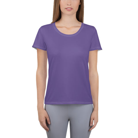 All-Over Print Women's Athletic T-shirt Ultra Violet.