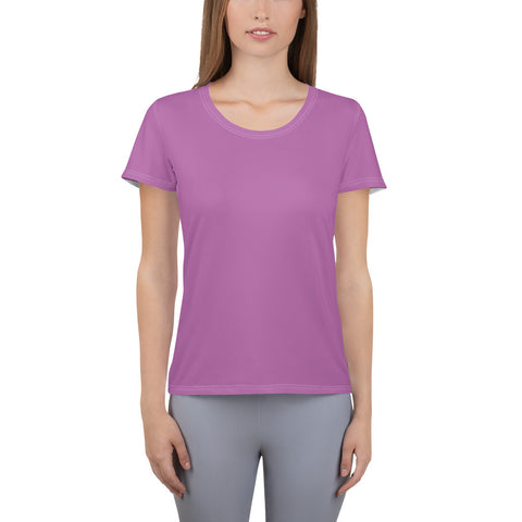 All-Over Print Women's Athletic T-shirt Radiant Violet.
