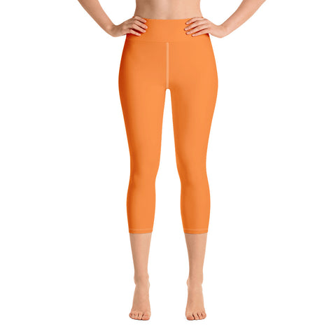 Yoga Capri Leggings Turmeric Orange.