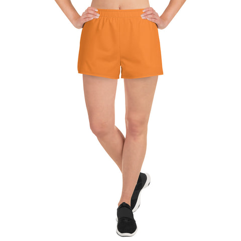 Women's Athletic Short Shorts Turmeric Orange.