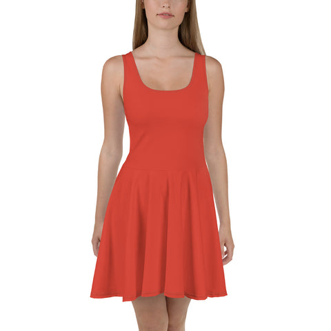 Skater Dress Fiesta Red.