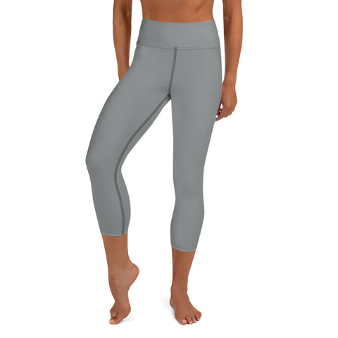 Yoga Capri Leggings Brown Gray.