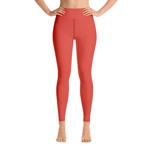 Yoga Leggings Fiesta Red.