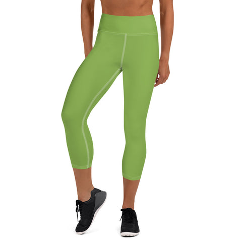 Yoga Capri Leggings Greenery Green.