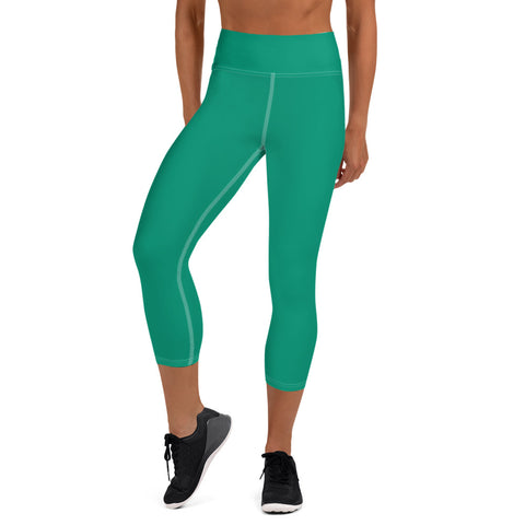Yoga Capri Leggings Emerald Green.