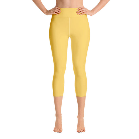 Yoga Capri Leggings Gold.