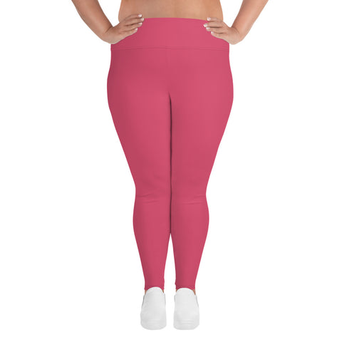 All-Over Print Plus Size Leggings Honey Pink