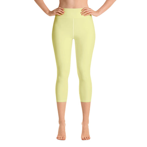 Yoga Capri Leggings Light Yellow.