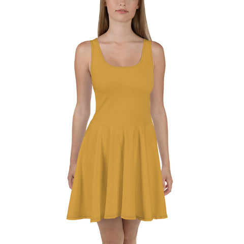 Skater Dress Mango Yellow.