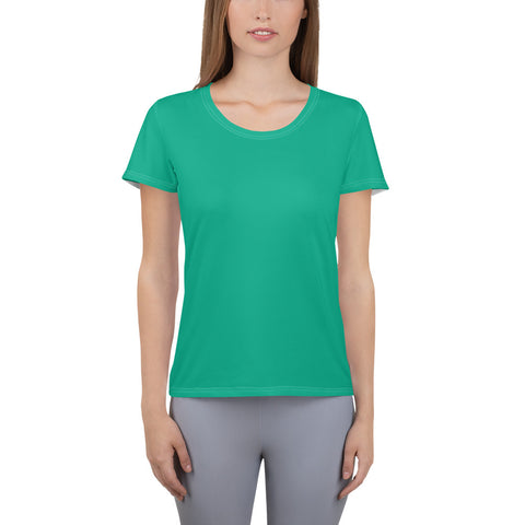 All-Over Print Women's Athletic T-shirt Green.