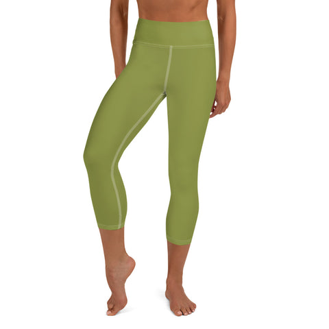 Yoga Capri Leggings Pepper Green.