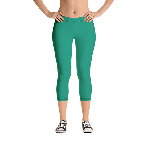 Capri Leggings Emerald Green.