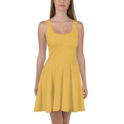 Skater Dress Mimosa Yellow.