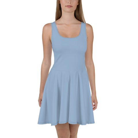 Skater Dress Cerul Blue.