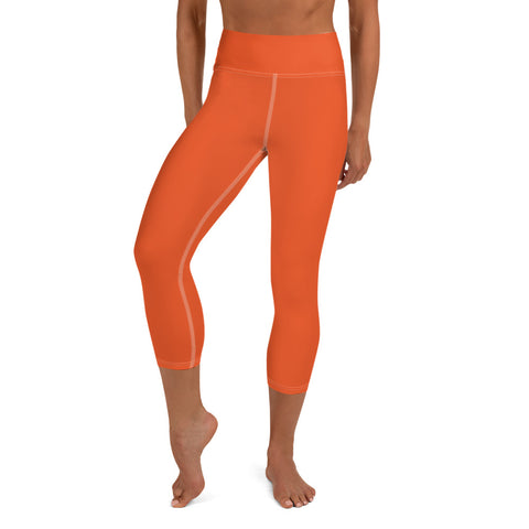 Yoga Capri Leggings  Orange.