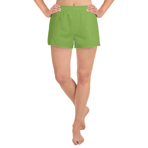 Women's Athletic Short Shorts Greenery Green.