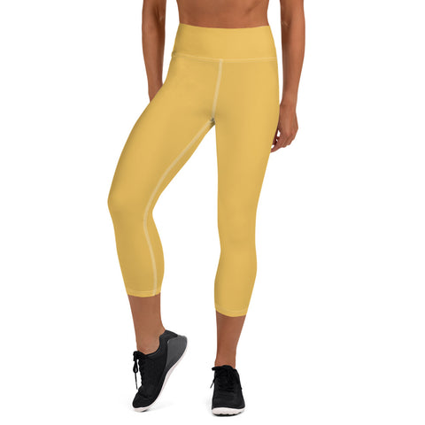 Yoga Capri Leggings Mimosa Yellow.