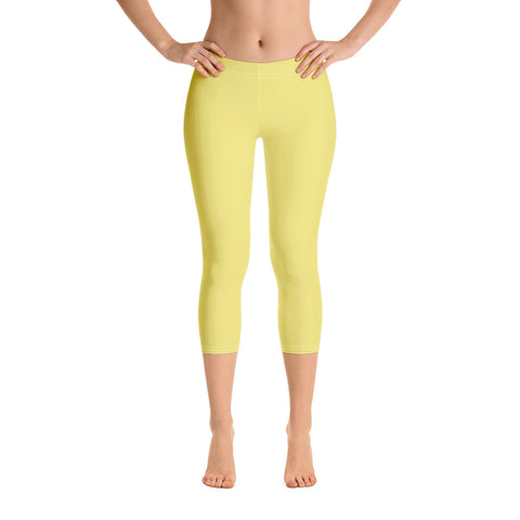 Capri Leggings Lemon Yellow.