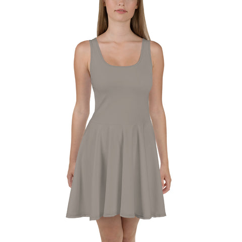 Skater Dress Medium Gray.