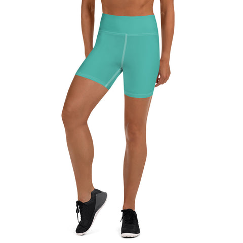 Yoga Shorts Turquoise Green.