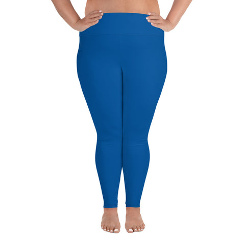 All-Over Print Plus Size Leggings Prince Blue
