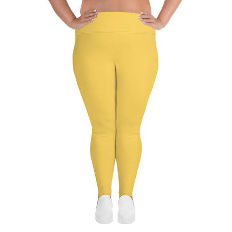 All-Over Print Plus Size Leggings Gold