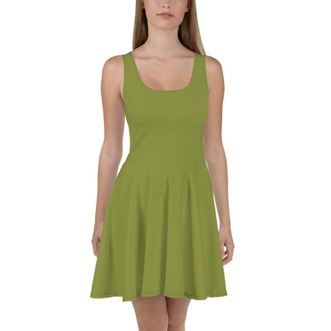 Skater Dress Pepper Green.