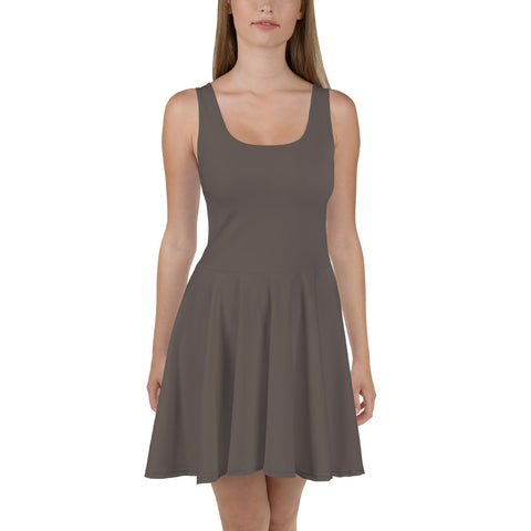 Skater Dress Granite Brown.