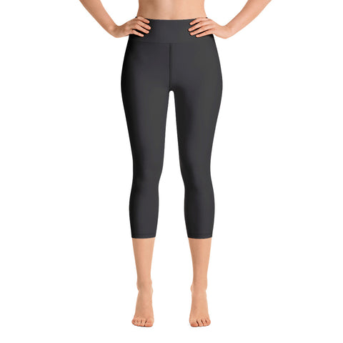 Yoga Capri Leggings Neutral Black.