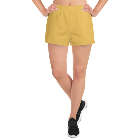 Women's Athletic Short Shorts Mimosa Yellow.