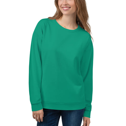 Unisex Sweatshirt Emerald Green.
