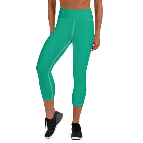 Yoga Capri Leggings  Green.