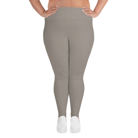 All-Over Print Plus Size Leggings  Medium Gray.