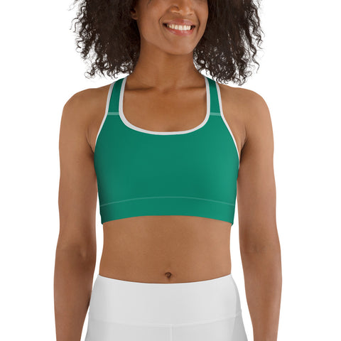 Sports bra Emerald Green.