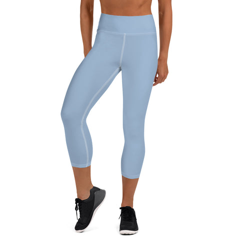 Yoga Capri Leggings Cerul Blue.