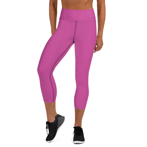 Yoga Capri Leggings Radiant Rose.